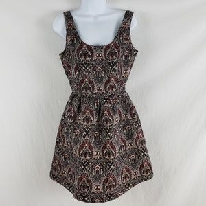BB Dakota Dress Jovita Paisley Brocade Fit Flare